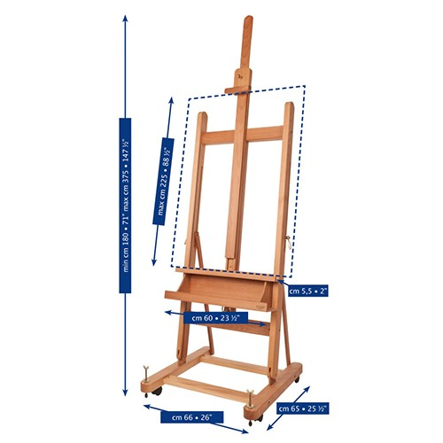 Mabef M06 Easel Dimensions