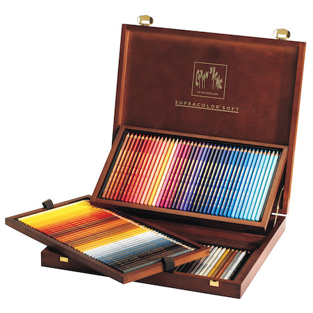Caran dAche Supracolor Soft Pencils Wooden Box of 120