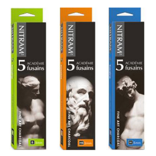 Nitram Academie Charcoal 5mm - 5 pack: H