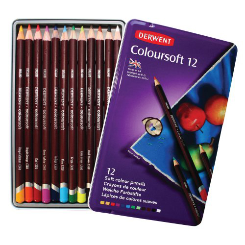 Derwent Coloursoft Pencils Tin Set of 12