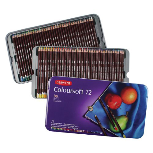 Derwent Coloursoft Pencils Tin Set of 72