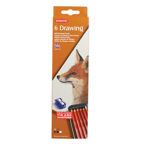 Derwent Drawing Pencils Tin Set of 6