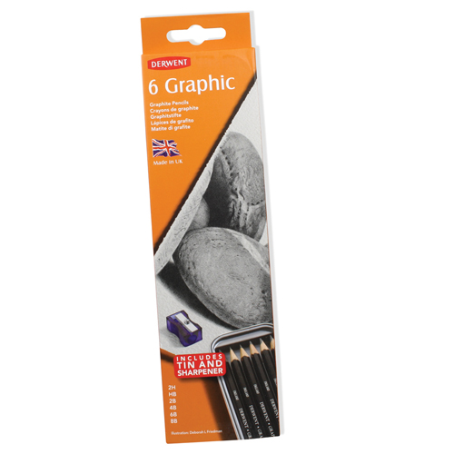 Derwent Graphic Pencils Tin Set of 6
