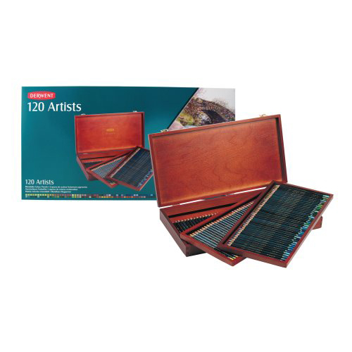 Derwent Artists Coloured Pencils Wooden Box of 120