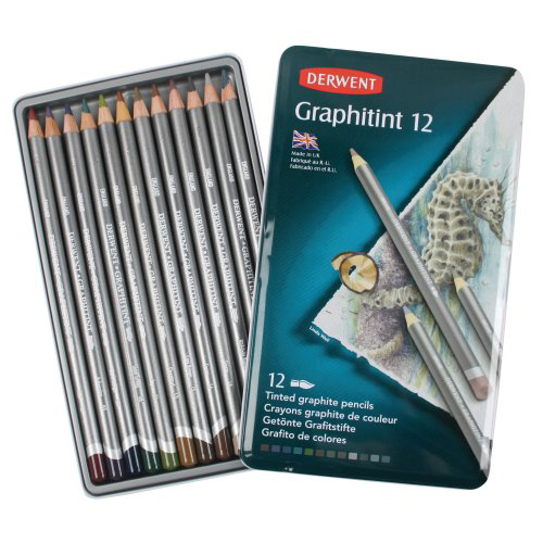 Derwent Graphitint Pencils Tin Set of 12