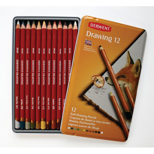 Derwent Drawing Pencils Tin Set of 12