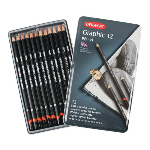 Derwent Graphic Pencils Tin Soft Set of 12