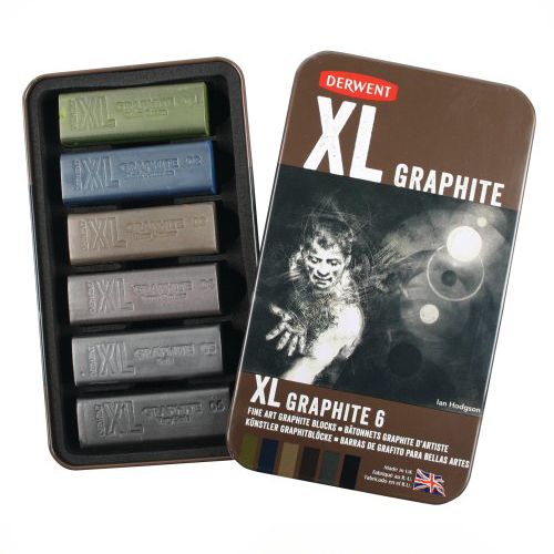 Derwent XL Graphite Blocks Tin Set of 6