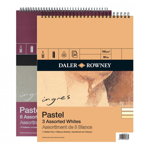 Daler Rowney Ingres Pastel Paper Spiral 9 x 12in: Assorted Shades