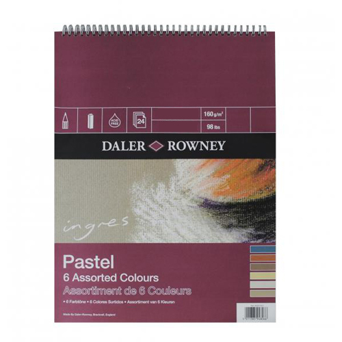 Daler Rowney Ingres Pastel Paper Spira 6 x 9in: Assorted Shades