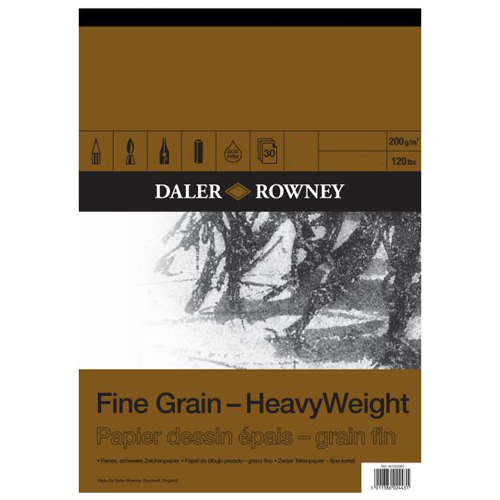 Daler Rowney Fine Grain Heavy Weight Pad 200gsm