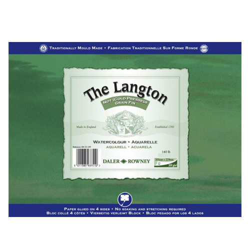 Daler Rowney Langton Watercolour Block Cold Pressed/NOT 140lb: 10 x 7in