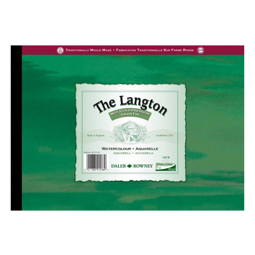 Daler Rowney Langton Watercolour Pad 140lbs Cold Pressed/NOT: A2