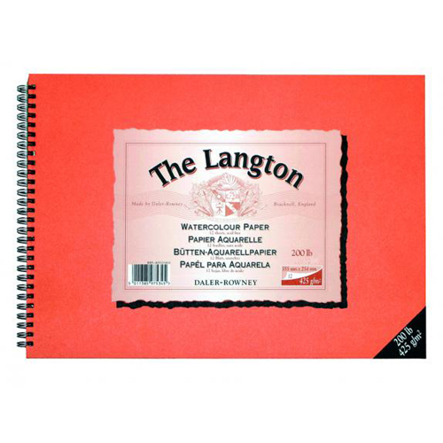 Daler Rowney Langton Watercolour Spiral Pad Cold Pressed/NOT 200lb: 12 x 9in