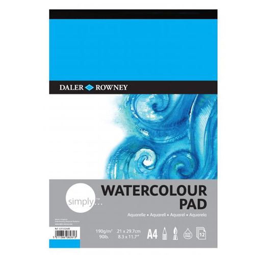 Daler Rowney Simply Gummed Watercolour Pads: A3