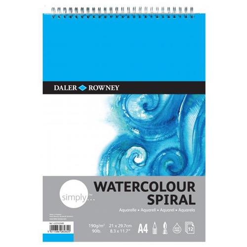 Daler Rowney Simply Watercolour Spiral Pads: A3