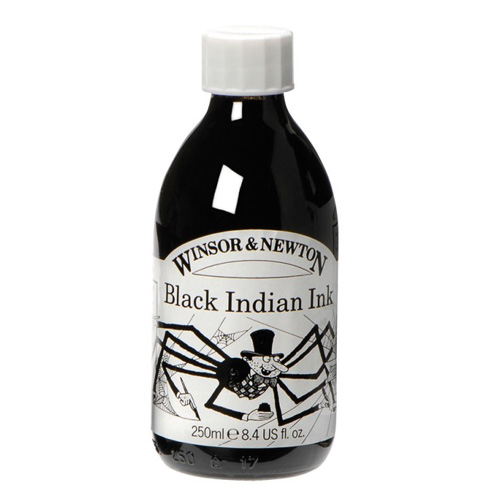 Winsor & Newton Black Indian Ink 250ml