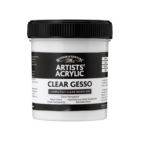 Winsor & Newton Artists Acrylic Clear Gesso Primer 474ml