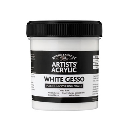 Winsor & Newton Artists Acrylic White Gesso Primer 237ml