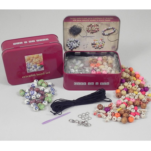 Gift in a Tin Oriental Bead Set