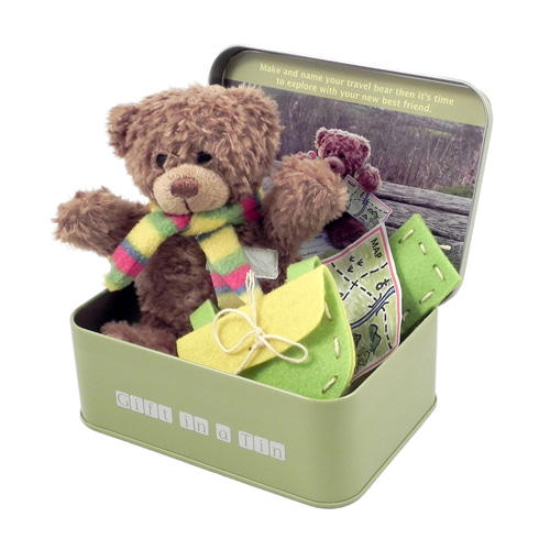 Gift in a Tin Teddy in a Tin Travel Bear