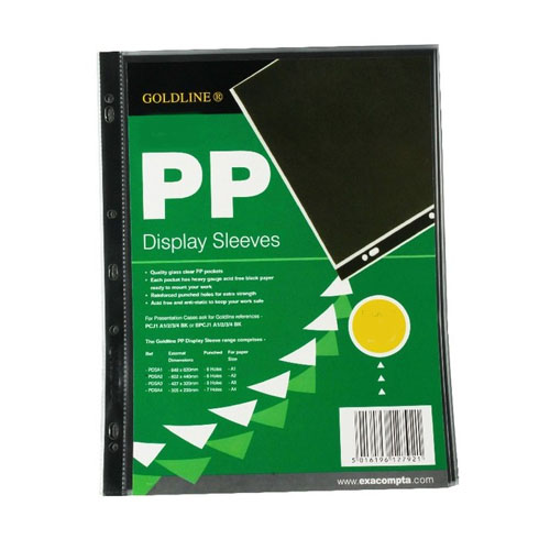 Goldline Polypropylene Display Sleeve A3