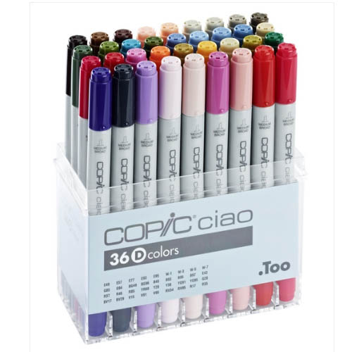 Copic Ciao Markers 36 Piece Set D