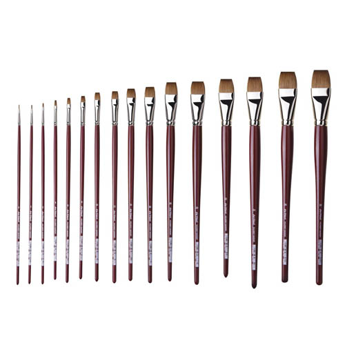 Da Vinci Series 1810 Flat Red Kolinsky Sable Brushes: Size 0