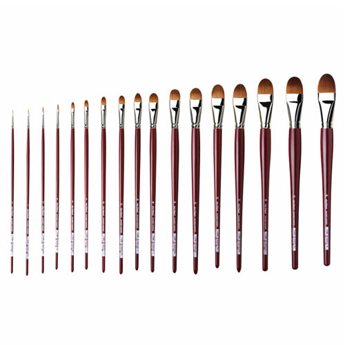 Da Vinci Series 1815 Filbert Red Kolinsky Sable Brushes: Size 0