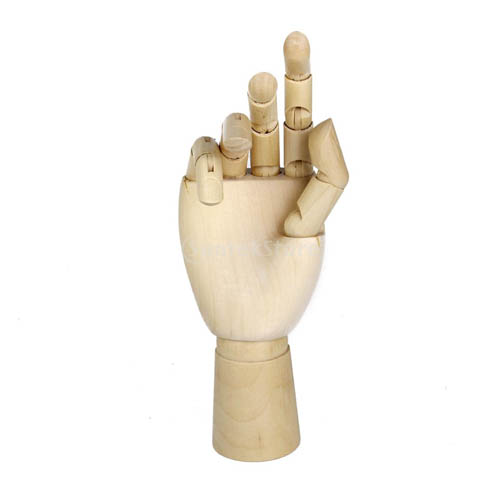 Wooden Male Right Hand 8in