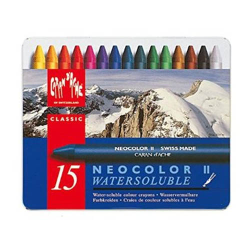 Caran dAche Neocolor II Water Soluble Wax Crayons Set of 15