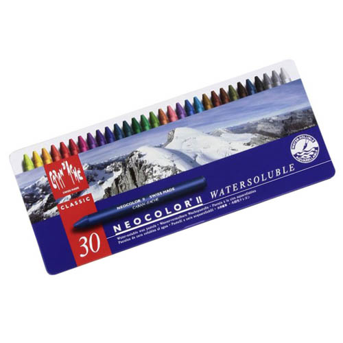 Caran dAche Neocolor II Water Soluble Wax Crayons Set of 30