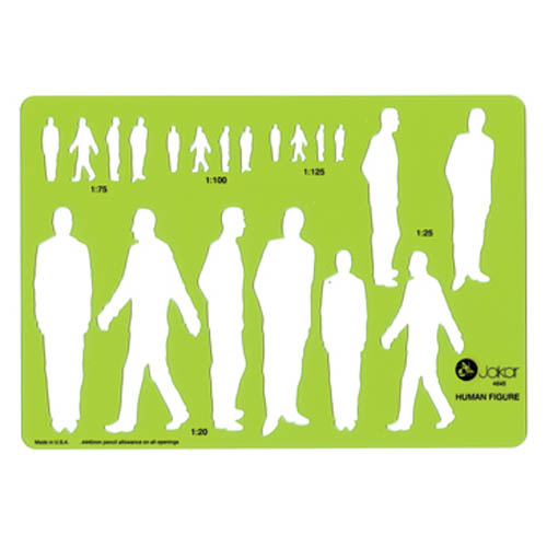 Template Human Figure Male 212x148mm