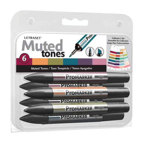 ProMarker Collectors 6 Set Muted Tones