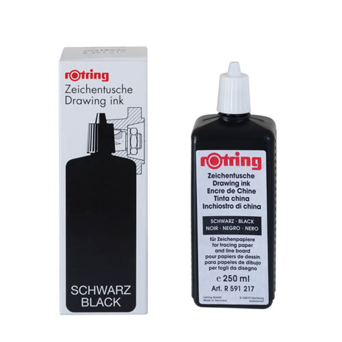 Rotring Black Ink Bottle 250ml