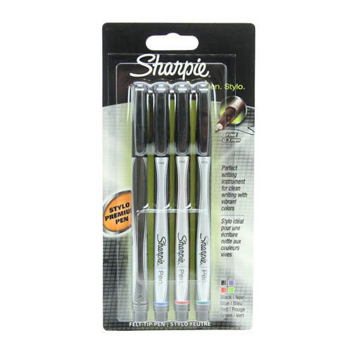 Sharpie Pen Fine Point Pack of 4
