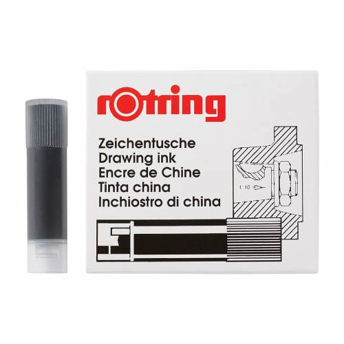Rotring Isograph Short Ink Cartridges Black