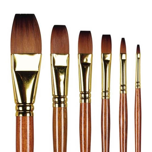 Pro Arte Series 008 Prolene Plus One Stroke Brushes: 1/2inch