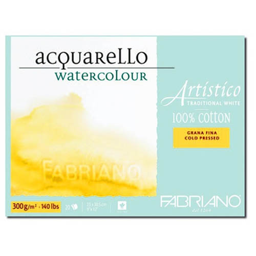Fabriano Artistico Block Cold 300gsm/140lb Pressed/Not: 12 x 9in