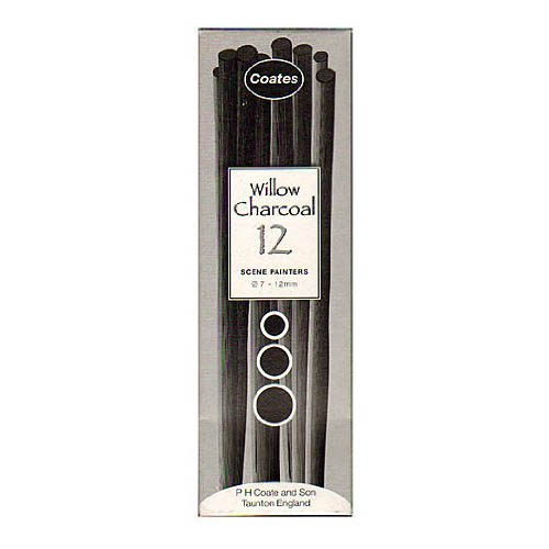 Coates Willow Charcoal Scene Painters Pack 12 sticks