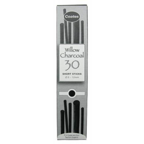 Coates Willow Charcoal Short Stick Pack 30 sticks