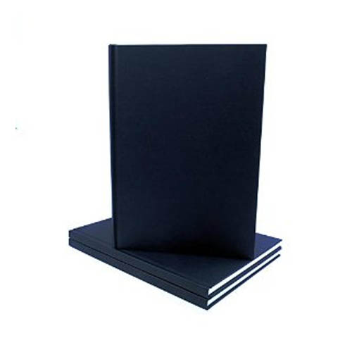 Black Cloth Casebound Portrait Sketchbook: A4