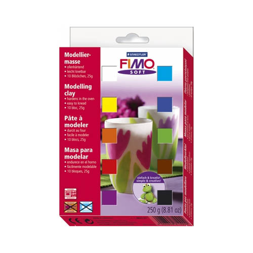 FIMO Soft Modelling Clay Material Set 10