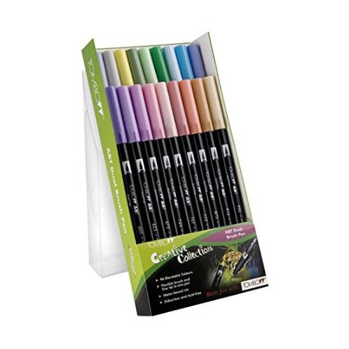 Tombow Dual Brush Pen Set 18pk Pastels