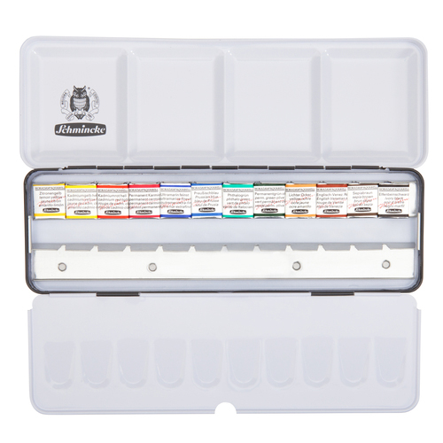 Schmincke Horadam Water Colour 12 Half Pan Set With Space