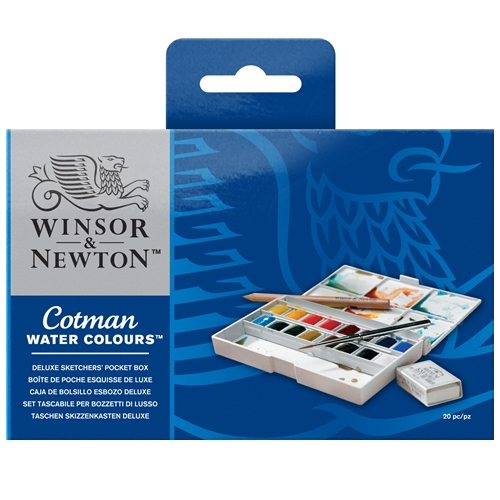 Winsor & Newton Cotman Deluxe Sketchers Watercolour Pocket Box