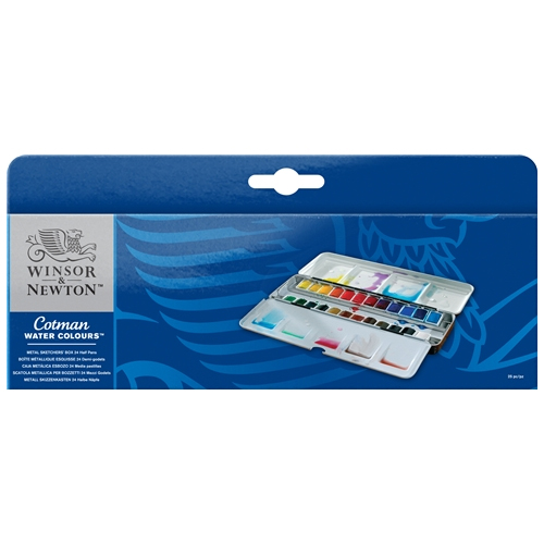 Winsor & Newton Cotman Metal Sketchers Box 24 Half Pans