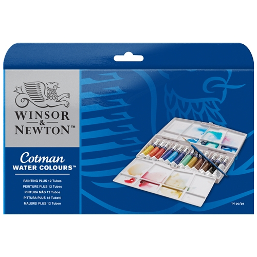 Winsor & Newton Cotman Watercolour Painting PLUS 12 Tube Set