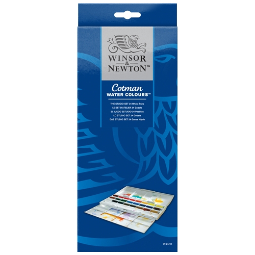 Winsor & Newton Cotman Watercolour Studio Set 24 Whole Pans