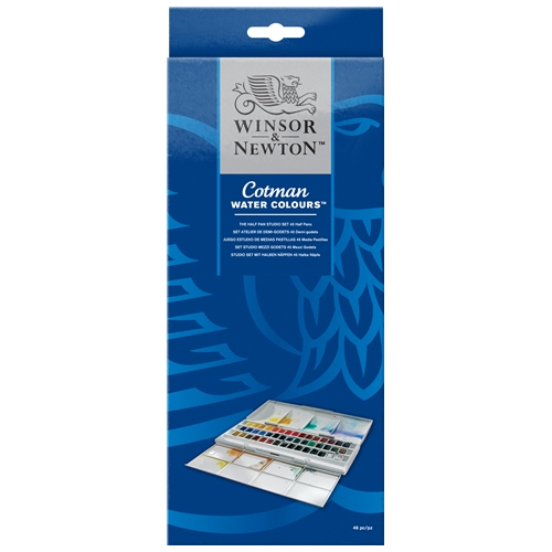 Winsor & Newton Cotman Watercolours 45 Half Pan Studio Set